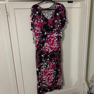 High low v neck Lane Bryant floral dress
